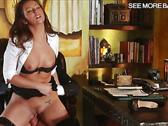 Superb secretary Maddy Oreilly pussy fucking with her boss