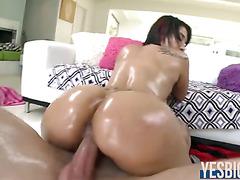 Onion shaped booty latina Lallasa fucked while ass bounces
