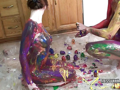 Indigo and Lavender get erotic with paint