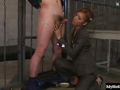 Sleek Nikubenki stops by the visitors checkin at the topsecret Tokyo prison, and