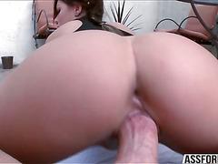 Cock sucking champion Karmen Karma gets pussy penetrated