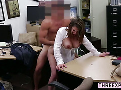 Desperate housewife takes huge dick