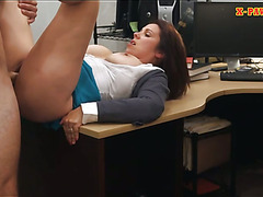 Big tits Milf gets payed for hard boning with pawn keeper