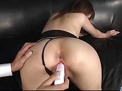 Amazing POV oral along curvy ass Riona Suzune