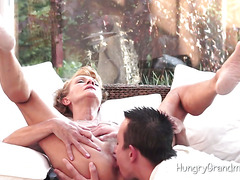 Oral For Granny'S Hairy Pussy