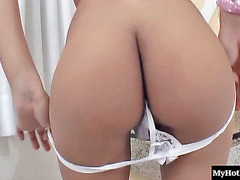 Bianda Paiva is a hot and horny trans chick with small tits, a