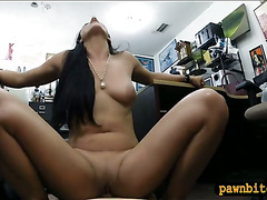 Amateur hottie sells her Cello and boned by pervert pawn guy