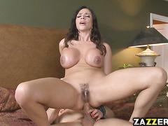 Ariella opens up and swallows that jizz like a good slut