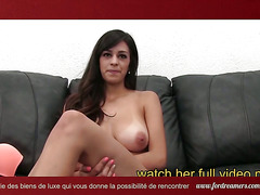 Brunette being slammed wildly on the couch - ForDreamers.com