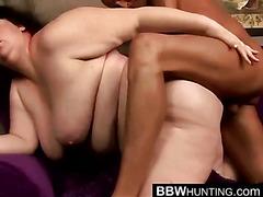 BBW Masturbates While Sucking Dick