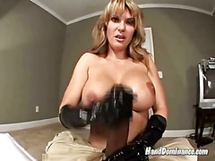 Mamma plays with her stepson's dick