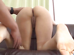 Saki Umita amazes with her creamy pussy and ass