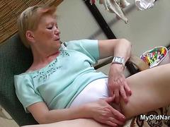 Teen shares dildo with granny