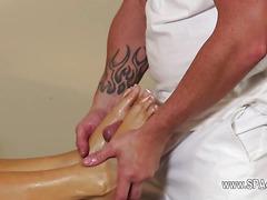Very tricky massage room of shocking masseur