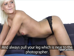 Mature blonde fucked on casting