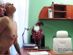 Mature blonde rided doctor cock