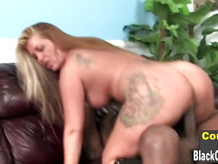 Cougar Joclyn Stone in interracial 3some with 2 black thugs