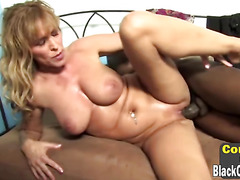 2 Hung brothas destroy a Nicole Moore mature twat