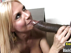 Big boobed blonde cougar Brooke Tyler is pumped by BBC