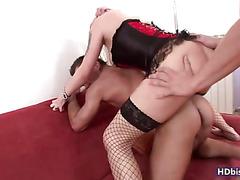 Stuck between two dicks