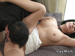 Mature in lingerie bangs young dick