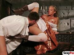 Samantha Saint is a horny Cinderella in Axel Braun parody