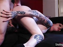 Busty tattooed emo vampire Ophelia Rain banged by horny man