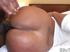 Huge dick in anal hole