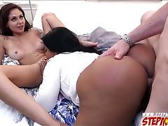 Ariana Marie caught her stepmom sucking her bfs cock