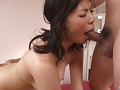 Saki Aoyama Asian milf threesome porn adventure