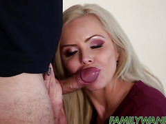Stepmom with huge tits Nina Elle gets pounded by stepson