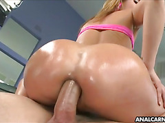 Hot anal fucking on a blonde