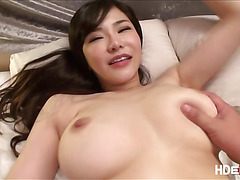Lovely asian babe Anri Okita gets fuck hardcore in the butt