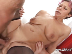 Sexy old mature love hard intercourse
