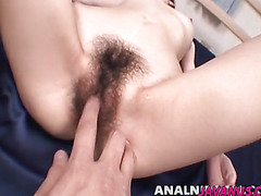 Kanon gets anal dildo and strong cock