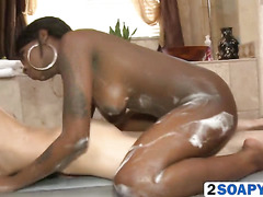 Sexy Older Ebony Jerking Big White Cock While Performing An Incredible Lap Dance