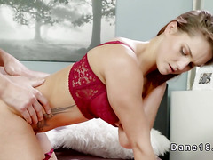 Beautiful redhead shows blowjob ssexys