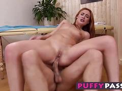 Naughty Eva Berger deepthroats a big cock like a champ