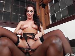 Jada Stevens bouncy butt gets fucked by Lex Steeles lucky meat