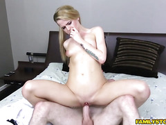 Brick let Alina West swallow his big cock