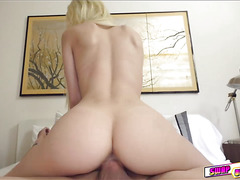 Horny Elsa Dream sucking huge cock