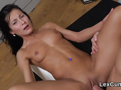 Flawless czech bombshell lexi dona finger fucks and comes