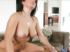 Babe gets banged by black boner while her mom is sexy