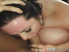BBW Brunette Keeps Riding This Big Cock