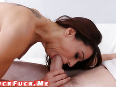 Brazilian hot milf Eva with big boobs seduces young boy for anal sex