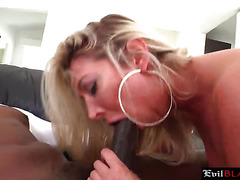 Amazing blonde bitch enjoys hardcore interracial anal sex