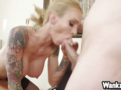 Sexy Milf boss Sarah Jessie fucks with new employee