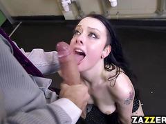 Alessa Savage rides Danny Ds big cock on top