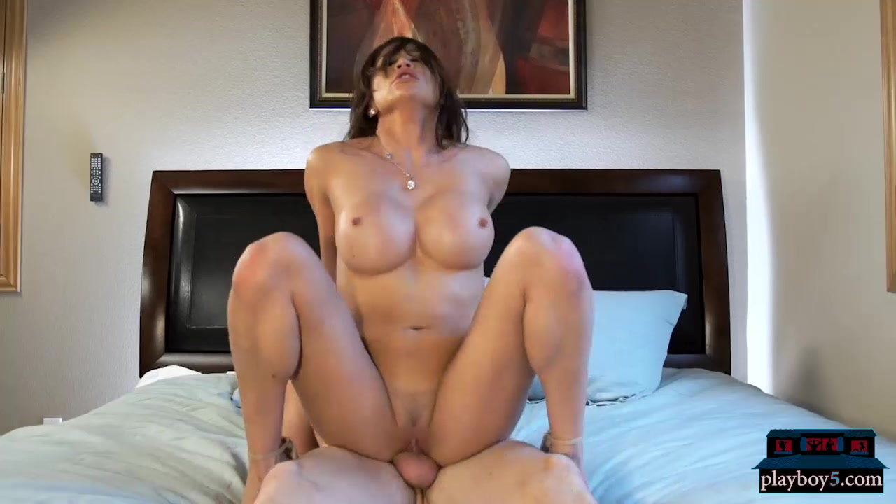 Busty asian milf takes a cock