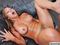 Reena Sky is down her knees for some epic deep throating